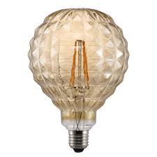 Decorative Led Squared Textured Globe Bulb Ese27