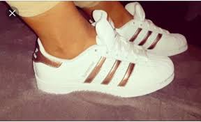 adidas shoes gold and white. shoes gold adidas superstars rose summer cute classy sneakers 2016 sporty sportswear and white