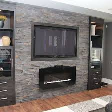 stone fireplace with tv above unique basement family room design ideas gas fireplace with wall mount