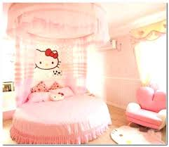 Outstanding Canopy Bed Curtains Pink Drapes And White Voile ...