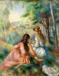 off hand made oil painting reion of picking flowers aka in the field one of the most famous paintings by pierre auguste renoir