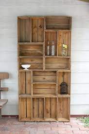 Furniture made from wooden pallets Outdoor Patio Bookshelf Made Out Of Antique Apple Crates Somebody Please Help Me Make This Pinterest 23 Super Smart Diy Wooden Projects For Your Home Improvement Great