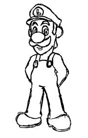 Free Printable Luigi Coloring Pages For Kids Coloring Book Best Of