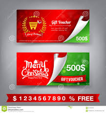 merry christmas gift voucher template vector illustration stock merry christmas gift voucher template vector illustration