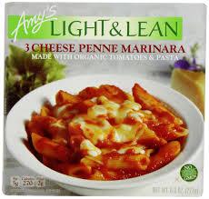 Amy S Light In Sodium Marinara Amys Light Lean 3 Cheese Penne Marinara 8 Oz Frozen