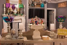 mardi gras home with sparkle
