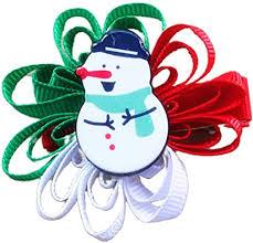Ludzzi Kids Girls Cute <b>Christmas</b> Hair Bow Barrette <b>Cartoon Santa</b> ...