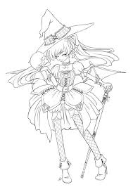 Small Picture Anime witch coloring pages ColoringStar