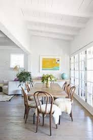 gorgeous dining room decor love that bright large scale wall art