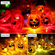 Indoor Halloween Lights Us 2 91 27 Off Indoor Battery Powered 10 20 Led Pumpkin String Lights Halloween Christmas Party Decor Lamps Holiday Decoration In Party Diy