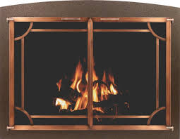 fireplace glass door sets
