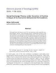 (PDF) Social <b>exchange</b> theory under scrutiny: A positive critique of ...