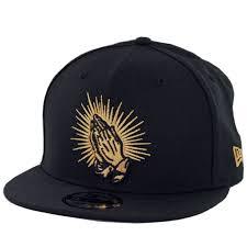 New Era 9Fifty Praying Hands Snapback Hat Black - Billion Creation Streetwear