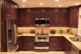 Cherry Shaker Kitchen Cabinets Shaker Door Style Custom Cherry Kitchen Cabinets With A Travertine