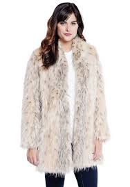 arctic leopard shawl collar faux fur jacket 1