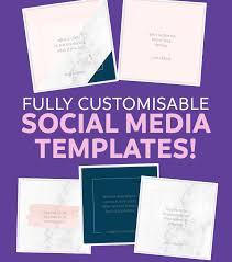 Social Media Design Templates Social Media Templates Sarah Rose Design