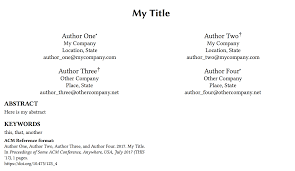 Footnotes Multiple Authors With Different Primary Affiliation But