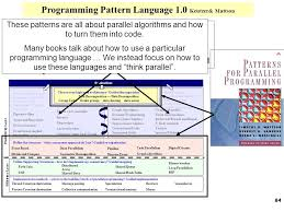 Programming Patterns Inspiration Design Patterns For Parallel Programming Ppt Download