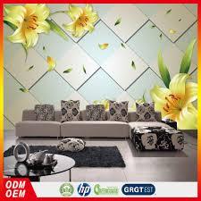Flower Design Wallpaper 3d 3d Brick Wallpaper Yellow Lily Flower Wallpaper 3d Custom Home Decoration Wallpaper Buy 3d Custom Home Decoration Wallpaper 3d Brick Wallpape Yellow