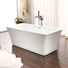 ... Bathtubs Idea, Bathtubs Freestanding Small Freestanding Tub Clearlines  Rectangular Freestanding Bathtub With Flat Stainless Steel ...