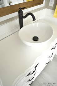 step by step tutorial to turn an old dresser into bathroom vanity