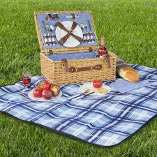 Best Choice Products 2 Person Wicker Picnic Basket W/ Cutlery, Plates,  Glasses,