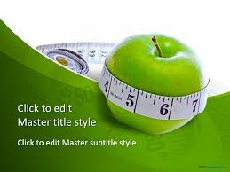 Download Free Ppt Templates Free Diet Measure Apple Ppt Template