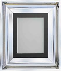 silver modern picture frames. Plain Frames Frame Company Theodore Chrome Silver Modern Shiny Picture Photo Frames With  Mount Choice Of Colours And E