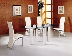 Natural Small Dinning Tables Glass Table For Chairs in Glass Dining Room  Table