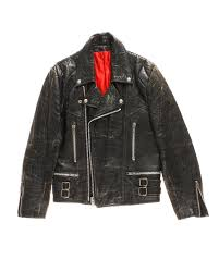 vintage leather motorcycle jacket 40 50s