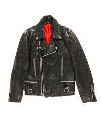 vintage leather motorcycle jacket 40 50s
