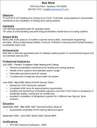 Maintenance Technician Resume Adorable Hvac Technician Resume Sample Marieclaireindia