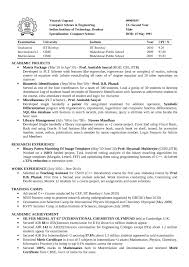 Resume Format For Assistant Professor In Cse Computer Science Resume