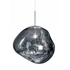 melt chrome pendant light big