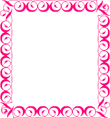Pink Fancy Borders Clipart