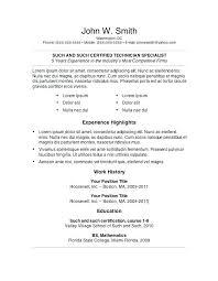 7 Free Resume Templates Inspiration 28 Free Resume Templates My Free Resume 28 Free Resume Templates