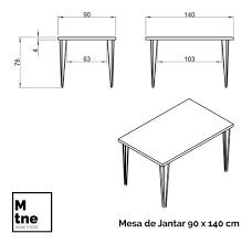 Veja abaixo as medidas mínimas para cada tipo de mesa com cadeiras para 4, 6, 8 e 10 pessoas: Mesa Jantar 6 Lugares Hairpin Legs Antiqua Sem Cadeiras Mercado Livre