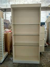 modern glass shelf tall wall handbag display cabinets showcase units single bay