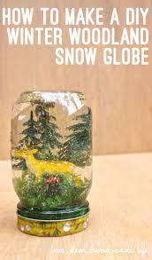 how to make a diy winter woodland snow globe on dear handmade life