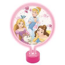 Disney Princess Magical Light Up Alarm Clock Kids Universe Disney Princess Neon Lamp