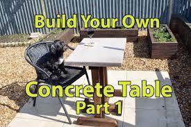 Build A Concrete Patio Build A Concrete Patio Table Part 1 Youtube