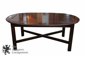 ethan allen georgian court butler s tray coffee table 11 8009 campaign maple
