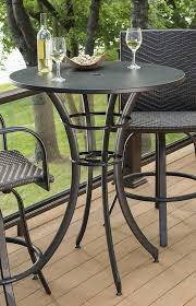 tall deck chairs and table maximize space on your deck with this round pub table and