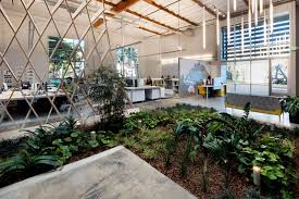 garden office designs interior ideas. cozy contemporary office space with indoor green plant fresh interior design hanging lighting garden designs ideas