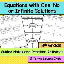equations with one no or infinite