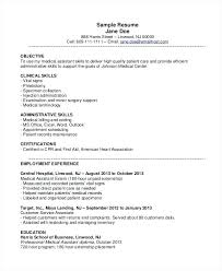 Duties Of A Medical Assistant For A Resumes Resume Medical Assistant Sample Medical Assistant Resume Orthopedic