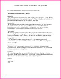 Letters Of Recommendation Personal Character Reference Letter Template And Personal Lovely