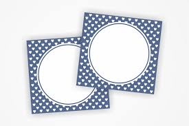 Printable Blank Cards Printable Navy Blue Tags With Small Hearts Label Heart Card Heart Tags Favor Tags Blank Cards Party Labels Instant Download Favours