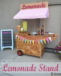 build the cutest lemonade stand on the block and it s even on wheels this lemonade