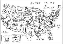 Us Map Colouring Page Landmarks Coloring Pages And Links To More